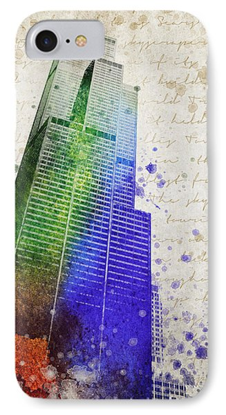 Willis Tower IPhone Case by Aged Pixel