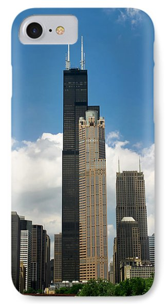 Willis Tower Aka Sears Tower IPhone Case by Adam Romanowicz
