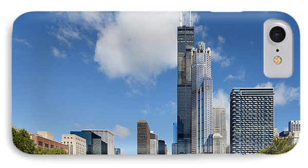 Willis Tower And 311 South Wacker Drive Chicago Phone Case by Christine Till