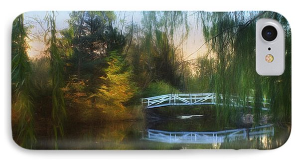 Willow Bridge IPhone Case by Lori Deiter