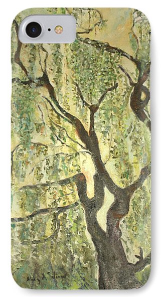 Willow Tree IPhone Case by Aleezah Selinger