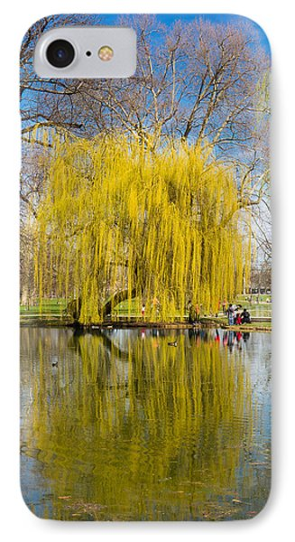 Willow Tree Water Reflection Phone Case by Matthias Hauser
