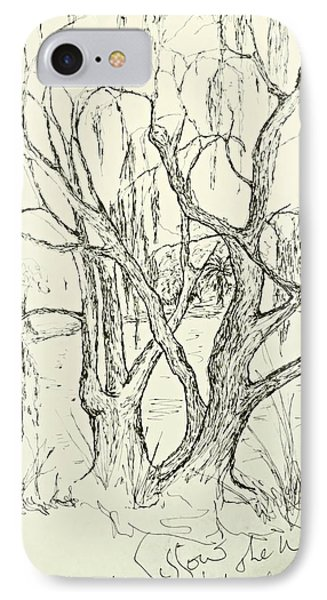 Willows By The Lake IPhone Case by Leanne Seymour