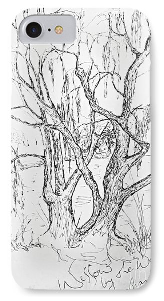 Willows By The Lake - Within Border IPhone Case by Leanne Seymour