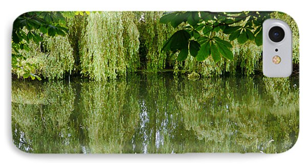 IPhone Case featuring the photograph Willows Reflected by Winifred Butler