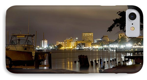 Wilmington Riverfront - North Carolina IPhone Case by Mike McGlothlen