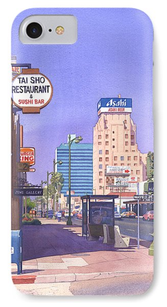 Beverly Hills iPhone 7 Case - Wilshire Blvd At Mansfield by Mary Helmreich