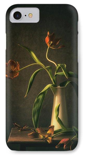 Tulip iPhone 7 Case - Wilted Tulips by Monique Van Velzen