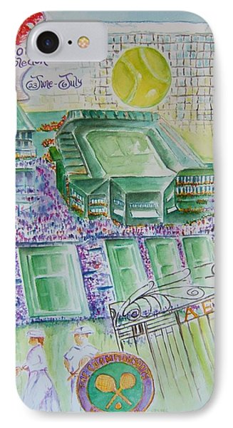 Wimbledon 2014 Phone Case by Elaine Duras
