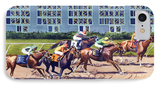 Win Place Show At Del Mar Phone Case by Mary Helmreich