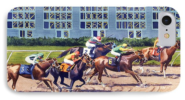 Win Place Show At Del Mar IPhone Case by Mary Helmreich