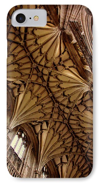 Winchester Cathedral Ceiling IPhone Case by Stephen Stookey