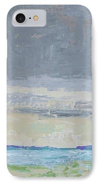 Wind And Rain On The Bay IPhone Case by Gail Kent