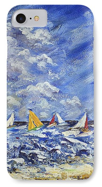 Wind And Sails IPhone Case by Kathleen Pio