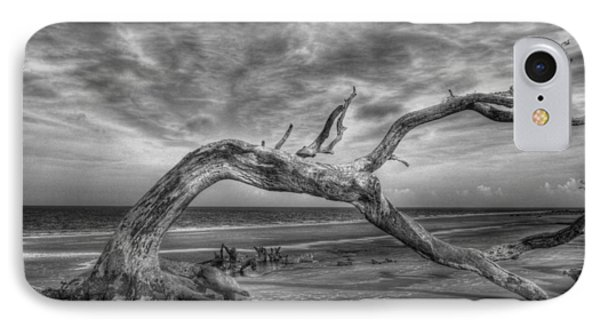 Wind Bent Driftwood Black And White Phone Case by Greg and Chrystal Mimbs