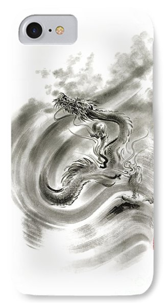 Wind Dragons Sumi-e Ink Painting Dragons Art IPhone Case