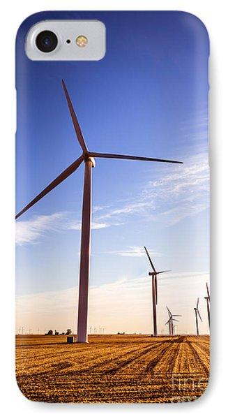 Wind Energy Windmills Picture IPhone Case by Paul Velgos