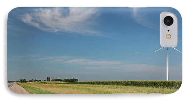 Wind Farm Turbine In Iowa IPhone Case