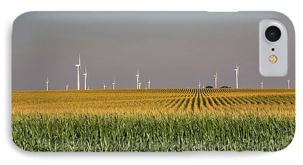 Wind Farm Turbines In Iowa IPhone Case