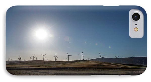 Wind Farm Turbines IPhone Case by Louise Murray
