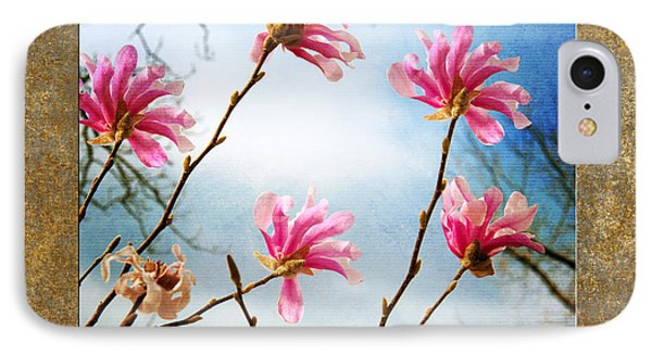 Wind In The Magnolia Tree Square IPhone Case by Andee Design