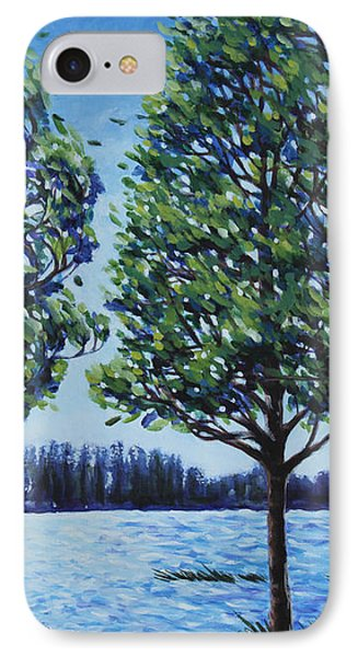 Wind In The Trees IPhone Case by Penny Birch-Williams
