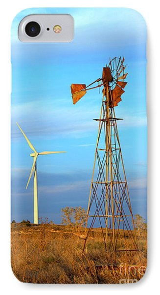 Wind Power  Then And Now IPhone Case by Jim McCain