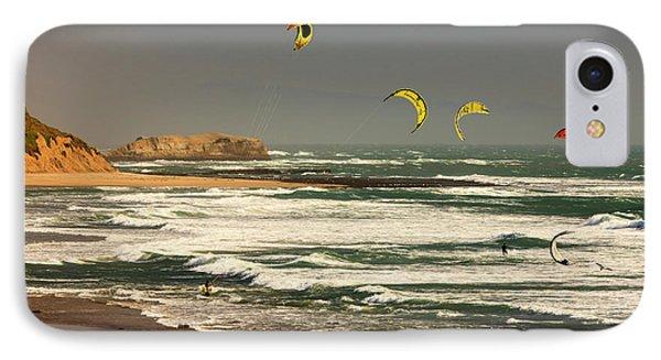 Wind Surfing Santa Cruz Coast IPhone Case by Tom Norring