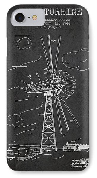 Wind Turbine Patent From 1944 - Dark IPhone Case by Aged Pixel