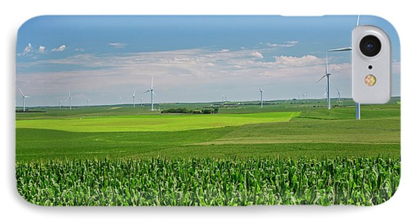 Wind Turbines On Nebraska Farm IPhone Case