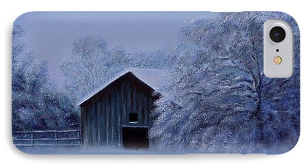IPhone Case featuring the painting Windberg Barn by Gene Gregory