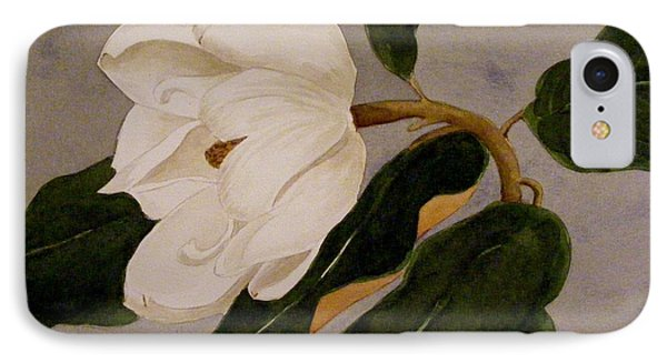 IPhone Case featuring the painting Windblown Magnolia by Nancy Kane Chapman