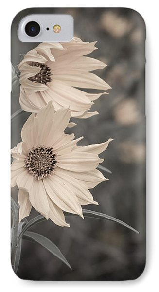 IPhone Case featuring the photograph Windblown Wild Sunflowers by Patti Deters