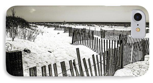 Winding Fence - Bridgehampton Beach - Ny IPhone Case by Madeline Ellis