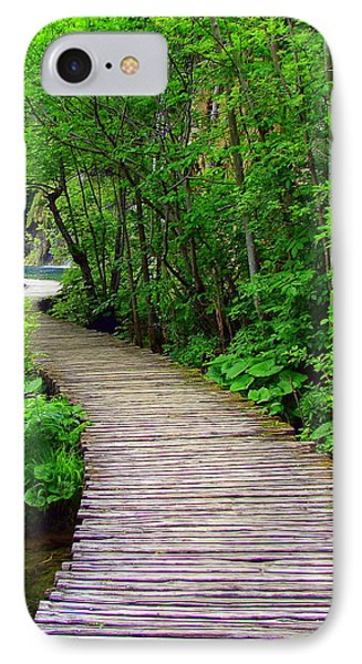 Winding Path IPhone Case by Ramona Johnston