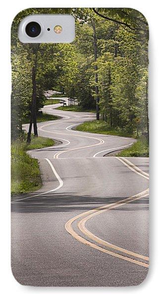 Winding Road Door County IPhone Case