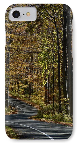 Winding Road In The Woods IPhone Case