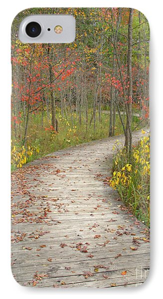 IPhone Case featuring the photograph Winding Woods Walk by Ann Horn