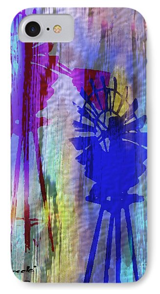Windmill Abstract Painting Phone Case by Judy Filarecki