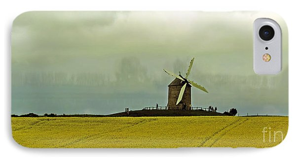 Windmill And Rapeseed And Storm IPhone Case