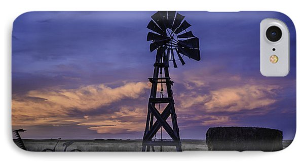 Windmill And Sky IPhone Case by Trish Kusal