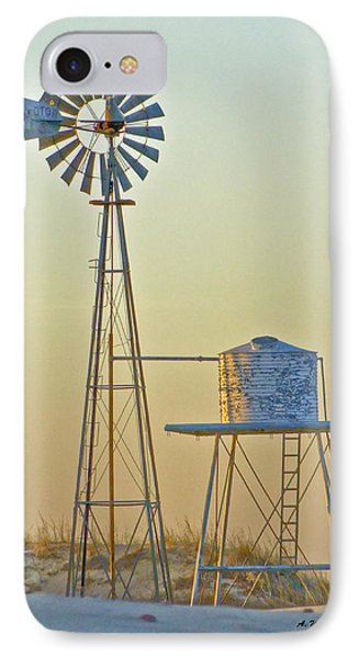 Windmill At Dawn 2011 IPhone Case by Allen Sheffield