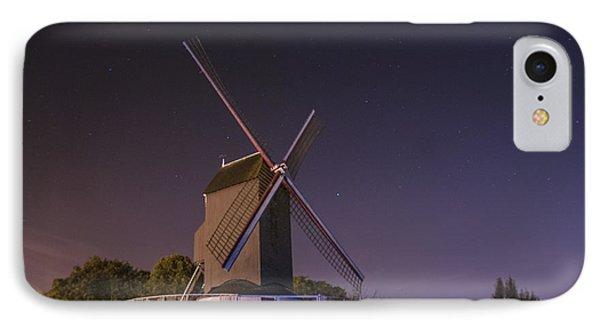 Windmill At Night Phone Case by Juli Scalzi