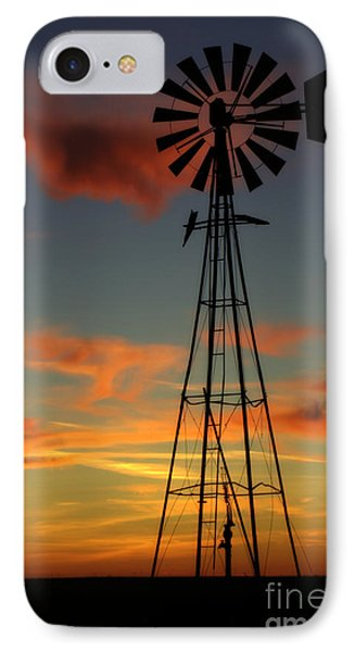 IPhone Case featuring the photograph Windmill At Sunset 1 by Jim McCain