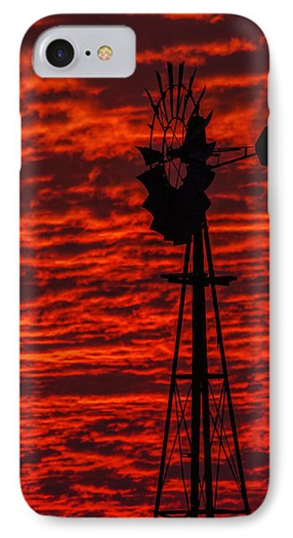 IPhone Case featuring the photograph Windmill At Sunset by Rob Graham