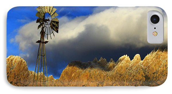 Windmill At The Organ Mountains New Mexico Phone Case by Bob Christopher