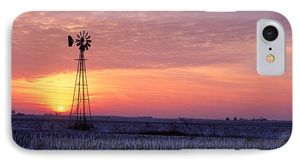 Windmill Cornfield Edgar County Il Usa IPhone Case
