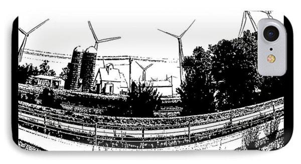 Windmill Farm Phone Case by Gerry Robins
