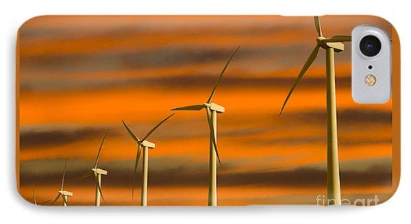 Windmill Farm IPhone Case