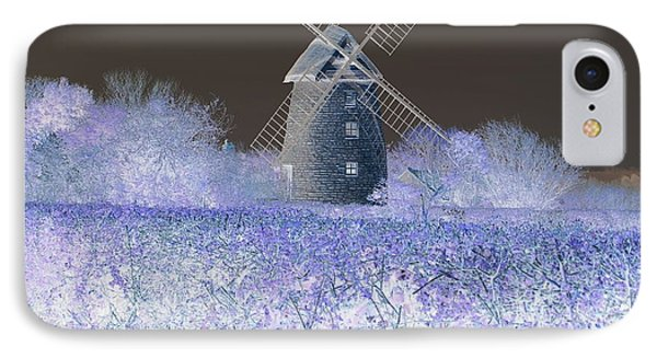 IPhone Case featuring the photograph Windmill In A Purple Haze by Linda Prewer